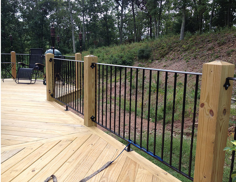 Deck Railings - Wrought Iron Works